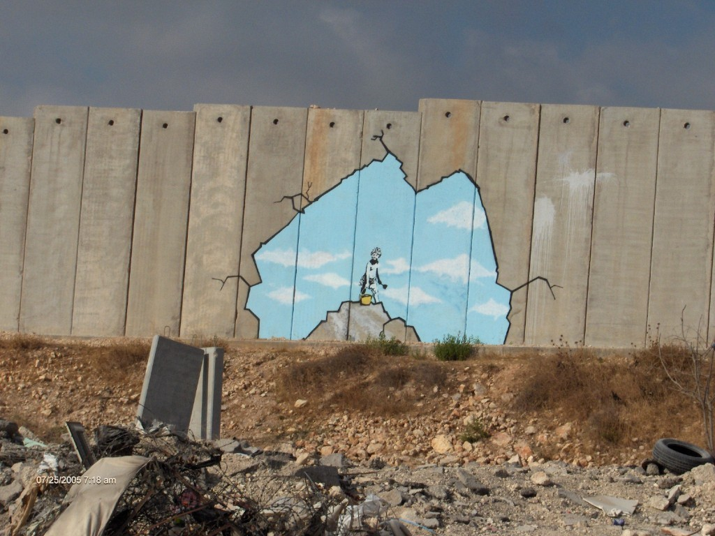 mathilde vermer : graffiti de banksy